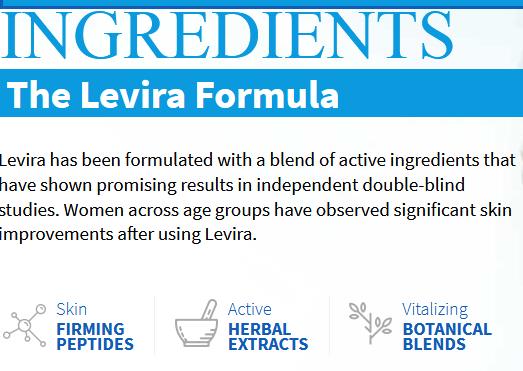 Levira Skin Care key ingredients