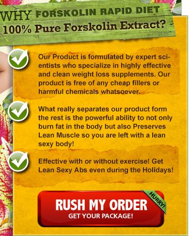Forskolin Rapid Diet ingredients