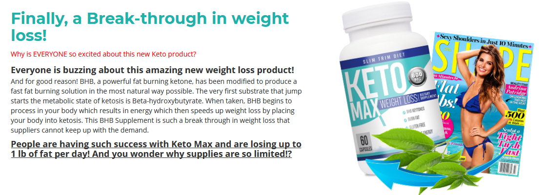 slim trim keto max reviews