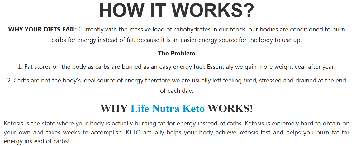 Life Nutra Keto Extreme weight loss work